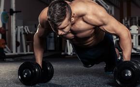 Картинка поза, мышцы, тренировка, атлет, гантели, бицепс, бодибилдер, training, weight, dumbbells, biceps, bodybuilder