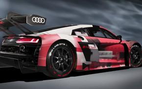 Картинка Audi R8, GT3, coupe, LMS, speed, sports car, exterior, aerodynamics, 2022, Audi R8 LMS GT3 …