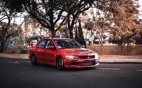 Картинка Mitsubishi, red, Lancer Evolution IX