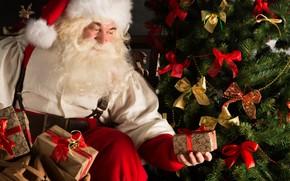 Картинка украшения, елка, Новый Год, Рождество, подарки, Санта Клаус, Дед Мороз, Christmas, New Year, decoration, xmas, …