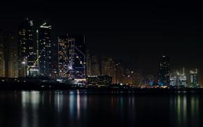 Картинка Architecture, Залив, Город, House, Дом, City, Вода, City Skyline Under Dark Sky, Buildings, Ночь, Здания, …