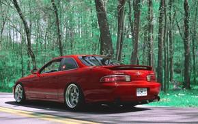Картинка Red, Stance, Lexus SC300