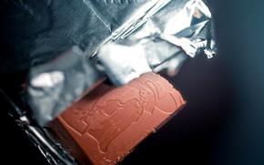 Картинка макро, фон, шоколад