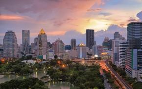 Картинка город, здания, панорама, Таиланд, Бангкок, Thailand, небоскрёбы, Bangkok