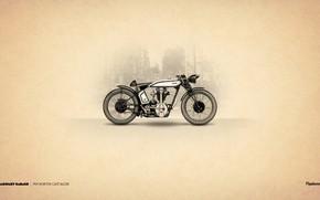 Картинка 1929, Motorcycle, Norton Cafe Racer