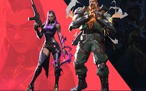 Картинка оружие, женщина, мужик, Valorant