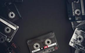 Картинка музыка, фон, касеты