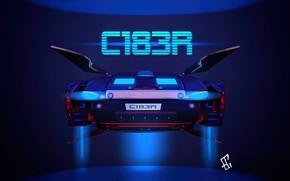 Картинка Рисунок, Машина, Car, Арт, Art, Concept Art, Cyberpunk 2077, Science Fiction, Cyberpunk, Evil Torn, Transport …