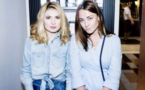 Картинка взгляд, поза, макияж, двое, актрисы, Ингрид Олеринская, Анна Цуканова-Котт
