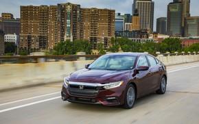 Картинка город, Honda, седан, Hybrid, Insight, гибрид, Touring, четырёхдверный, 2019