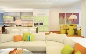 Обои цветы, стиль, мебель, интерьер, colors, камин, style, гостиная, room, fireplace, furniture, living