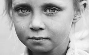 Картинка девочка, монохром, слёзы, Marteline Nystad