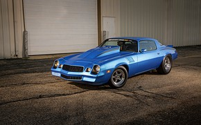 Картинка Chevrolet, Muscle, Camaro, Car, Blue