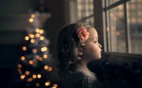 Картинка дом, праздник, девочка