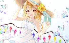 Картинка шляпа, девочка, Touhou, Тоухоу