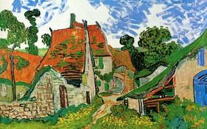Картинка ступени, Vincent van Gogh, Village Street, in Auvers