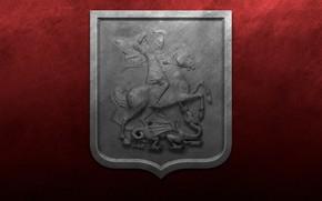 Обои флаг, герб, герб москвы, флаг москвы, святой Георгий Победоносец