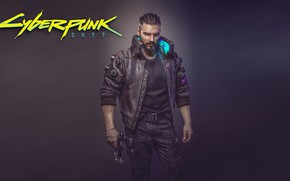 Обои Киберпанк, Мужчина, Cyberpunk 2077, Концепт Арт, Видеоигра, 2077, Концепт-Арт, Киборги, Cyberpunk, Игра, CD Projekt RED, ...