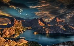 Картинка море, горы, красота, простор, sea, mountains, beauty, фьорды, fjords, Stein Egil Liland, spaciousness