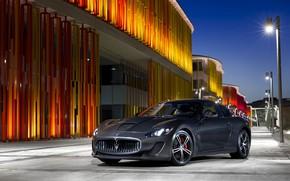 Картинка авто, ночь, Maserati, GranTurismo