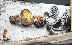 Картинка улица, граффити, рисунок