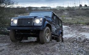 Картинка прототип, Land Rover, полигон, Defender, 2013, All-terrain Electric Research Vehicle