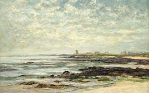 Картинка пейзаж, картина, 1910, Maxime Maufra, Максим Мофра, Морской Бассейн. Бэ де Киберон
