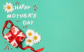 Картинка цветы, праздник, подарок, счастливый, День Матери