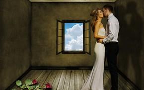 Обои девушка, поцелуй, объятия, мужчина, влюбленные, Susan Cipriano