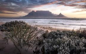 Картинка sunset, Cape Town, Table Mountain, Blouberg Beach