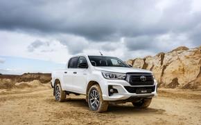 Картинка песок, белый, земля, Toyota, пикап, Hilux, грунт, Special Edition, 2019