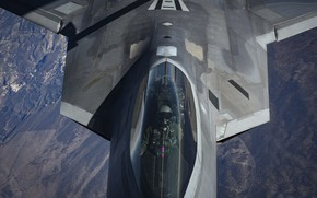 Картинка USAF, Пилот, F-22 Raptor, Кокпит