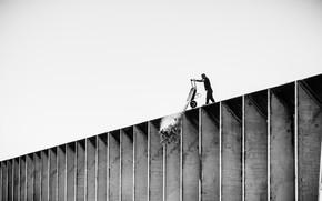 Картинка wall, white, black, men, worker