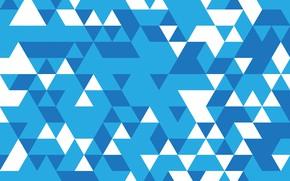 Картинка абстракция, геометрия, Abstract, blue, background, mosaic