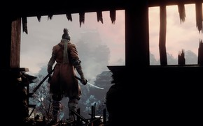 Картинка игра, япония, волк, меч, sword, art, экшен, протез, wolf, samurai, синоби, from software, Sekiro: Shadows …