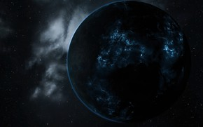Картинка космос, eve online, плазма, планетa