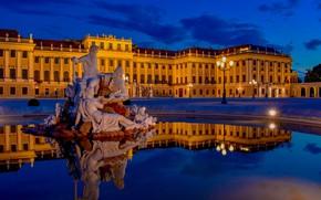 Картинка Австрия, фонтан, Вена, Schonbrunn Palace