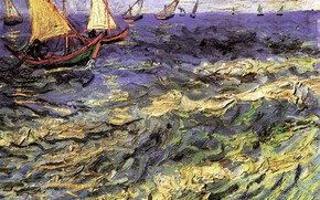 Картинка Винсент ван Гог, Maries 2, Seascape at Saintes