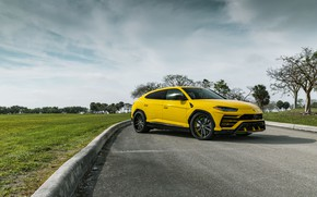 Картинка Lamborghini, Yellow, Urus, VAG, Sight