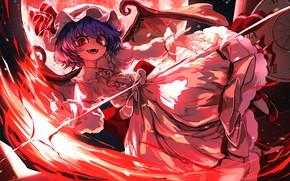 Картинка девушка, вампир, Touhou, Тохо