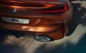 Картинка BMW, родстер, корма, 2017, Z4 Concept
