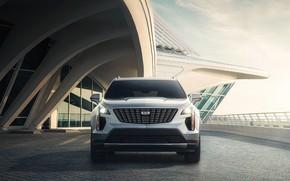 Картинка небо, транспорт, сооружение, автомобиль, Cadillac XT4