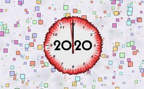 Картинка фон, стрелки, Новый Год, циферблат, 2020