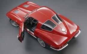Картинка Corvette, Classic, 1963, Classic car, Sting Ray C2, Chevrolet Corvette C2, Chvroleet Corvette, Chevrolet Corvette …