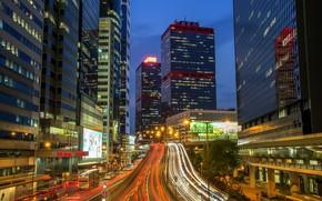 Картинка дорога, город, Гонконг, Китай