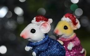 Картинка игрушки, мыши, боке