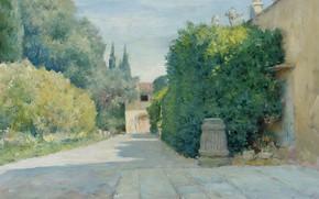 Картинка пейзаж, картина, 1909, Уильям Чейз, William Merritt Chase, Вилла во Флоренци