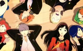 Картинка фон, игра, аниме, арт, персонажи, Persona 4, персона