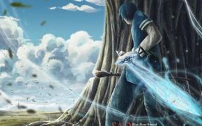 Картинка меч, парень, Мастера меча онлайн, Sword Art Online