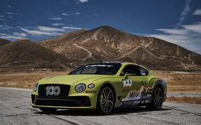 Картинка купе, Bentley, Continental GT, Pikes Peak, 2019, на фоне гор, 626 л.с.